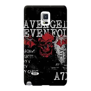Perfect Cell-phone Hard Cover For Samsung Galaxy Note 4 With Customized Attractive Avenged Sevenfold Image DeanHubley