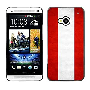Shell-Star ( National Flag Series-Austria ) Snap On Hard Protective Case For HTC One (M7)
