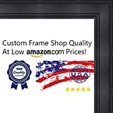 28x40 Contemporary Black Wood Picture Frame - UV Acrylic, Foam Board Backing, & Hanging Hardware Included!