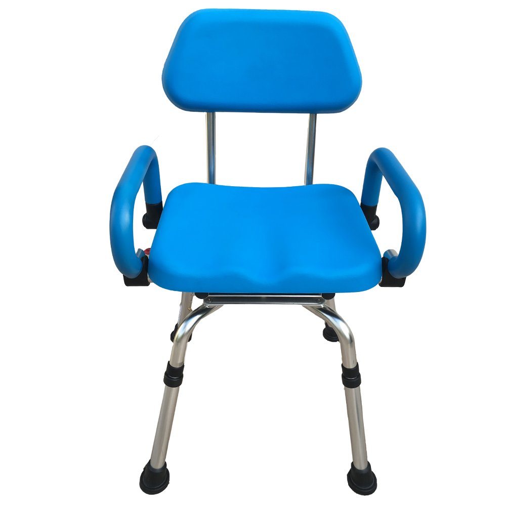 Platinum Health Revolution Pivoting Shower Chair with Padded Back and Arms by Platinum Health (Image #1)