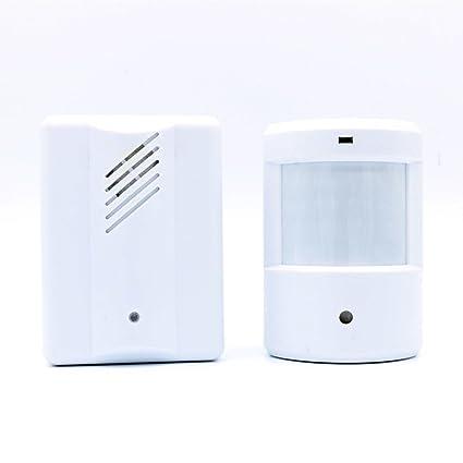 USUN Cargador inalámbrico entrada del tienda Visitor puerta Bell Chime Welcome Sensor de movimiento
