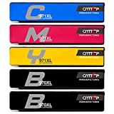 CMTOP 5 Packs 970XL 971XL Ink with Latest Chips, Compatible for HP 970 970XL 971 971XL Ink Cartridges, High Yield, work with HP Officejet Pro X576dw X476dw X476dn X551dw X451dn X451dw Office Printer