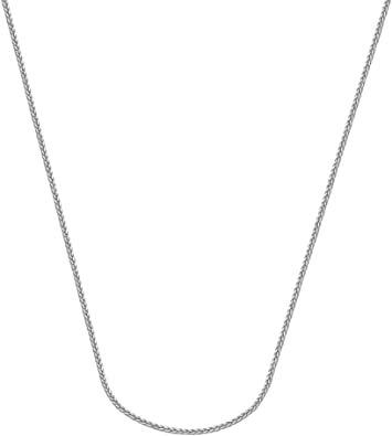Solid 925 Sterling Silver 1.25mm Square Snake Chain Necklace
