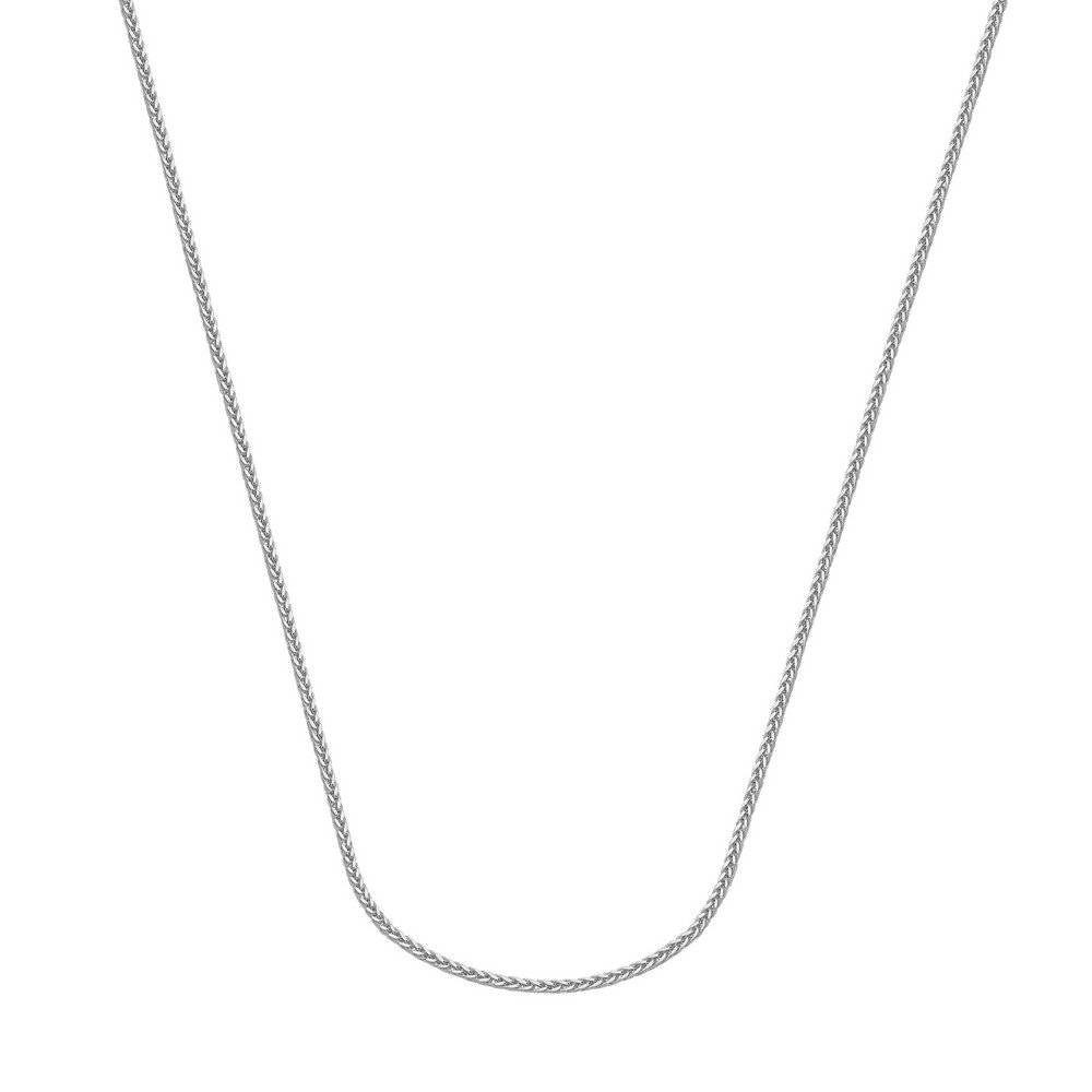 14k Hollow Square Wheat Chain Necklace in White Gold Yellow Gold Choice of Lengths 16 18 20 24 and 1.25mm 1mm 2.25mm
