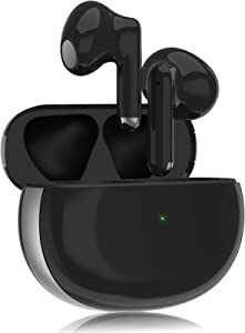 Wireless Earbuds Bluetooth 5.1 Wireless Ear Buds Headphones Noise Cancelling Air Buds Earpods with 40H Play Time in-Ear Ear Buds Earphones Built-in Mic Headset for iPhone/Android/Samsung (Black)