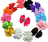 Dogs Kingdom Cute Puppy Dog Cat Hair Bows Small Bowknot With Tiny Alligator Clips Mix Colors Varies Patterns 20/30Pcs