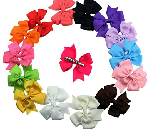 Dogs Kingdom Cute Puppy Dog Cat Hair Bows Small Bowknot With Tiny Alligator Clips Mix Colors Varies Patterns 20/30Pcs by Dogs Kingdom