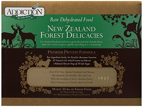 Addiction Raw Dehydrated Dog Food, New Zealand Forest Delicacies, 8lbs by Addiction Pet Foods