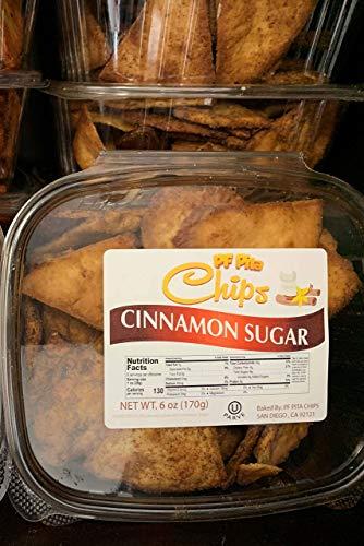 - CINNAMON SUGAR Pita Chips Container ❤️no gmo ✡️OU ☮️Vegan