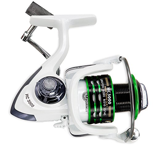 - Thekuai Spinning Fishing Reel for Freshwater Saltwater 12 + 1 Ball Bearings Left/Right Interchangeable Collapsible Metal Handle Fishing Reels (HC3000)