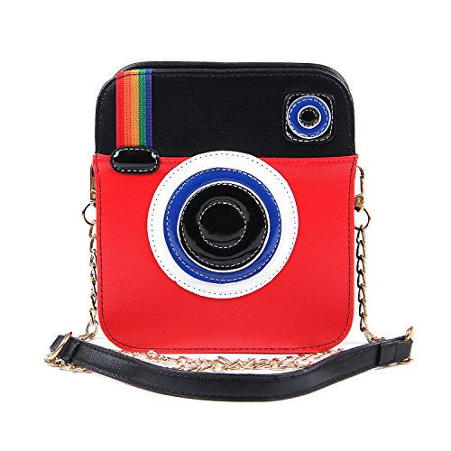 Women's Unique Camera Design Cross Body Bag Clutch Purses Novelty Shoulder Handbag Messenger Bag