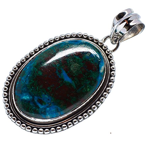 "Shattuckite Pendant 1 3/4"" (925 Sterling Silver) - Handmade Jewelry PD636473 from Ana Silver"