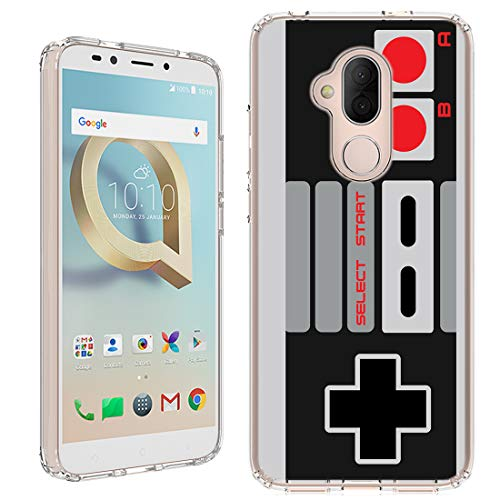 Alcatel 7 Folio Case [NES Controller](Clear) PaletteShield Flexible Slim TPU Skin Phone Cover (fit Alcatel 7 Folio/Revvl 2 Plus)