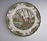 Johnson Brothers China THE FRIENDLY VILLAGE Lg Dinner Plate Willlow by Brook EX!