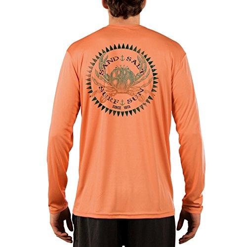 SAND.SALT.SURF.SUN. Vintage Crab Men's UPF 50+ Performance T-Shirt XXX-Large Citrus