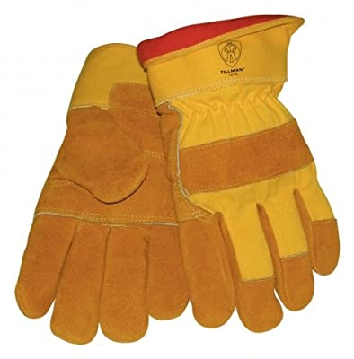 Tillman 1578 Rugged Cowhide Cotton/Foam Lined Winter Work Gloves, Larg