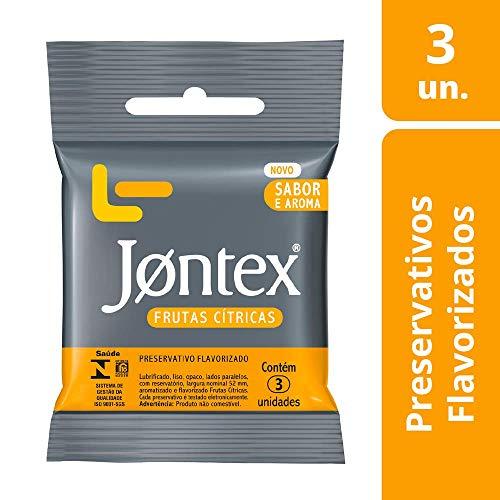 Preservativo Jontex Sabor e Aroma Frutas Cítricas, 3 Unidades
