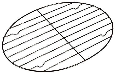 Fox Run 57213 Oval Roasting/Cooling Rack, Iron, Non-Stick, 15-Inch