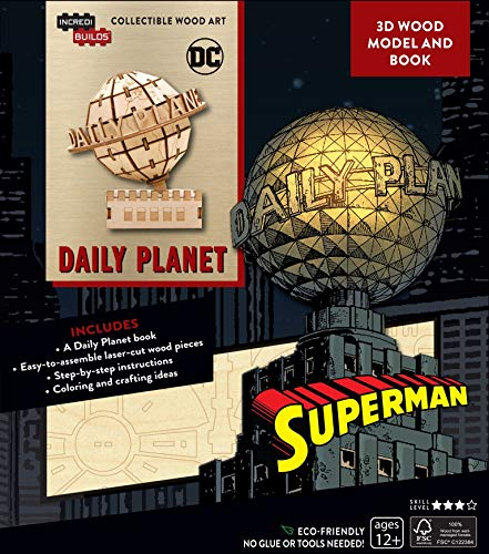 (IncrediBuilds DC Comics: Superman: Daily Planet 3D Wood Model and Book)