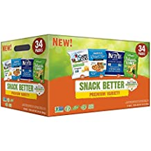 Premium Snack Variety Pack with Kettle Brand and Cape Cod Potato Chips, Late July Tortilla Chips & Snack Factory Pretzel Crisps, 34 oz