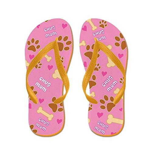 Cafepress Chug Mom Cadeau Slippers - Flip Flops, Grappige String Sandalen, Strand Sandalen Oranje