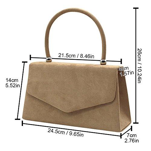 Bag Wedding Handbag Envelope Nude Evening Ladies Suede Brand Clutch New Party Velvet Women Wocharm n6Fq4wnvx8
