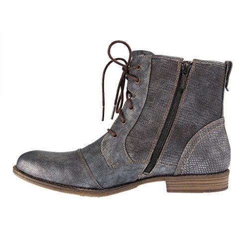 MUSTANG - 1157-549 - Damen Kurzschaft Stiefel - Blau Schuhe in Übergrößen , Farben:Blau;Größe:45;Weite:G