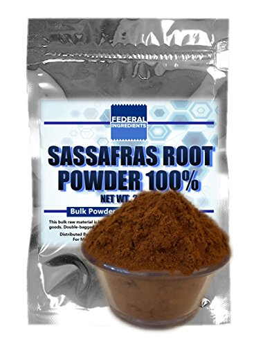 SASSAFRAS ROOT BARK POWDER - 2.5 Ounce (70 Grams) Lab Grade Sample - Made in the USA by Federal Ingredients - aka sassafras root powder sassafras tea powder sassafras bark powder (Soda Stream Flavor Sample compare prices)