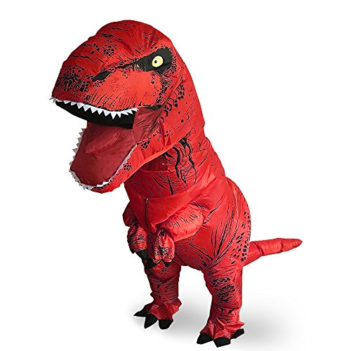 T-Rex Originals T-Rex Costume Inflatable Dinosaur Suit Halloween Adult Inflatable Costume (Red)