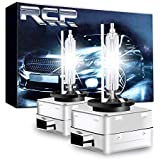 RCP - D1S6 - (A Pair) D1S/ D1R 6000K Xenon HID Replacement Bulb Diamond White Metal Stents Base 12V Car Headlight Lamps Head Lights 35W