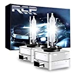 RCP - D3S6 - (A Pair) D3S/ D3R 6000K Xenon HID Replacement Bulb Diamond White Metal Stents Base 12V Car Headlight Lamps Head Lights 35W