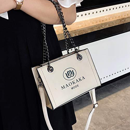 contrasto trasparente quadrata borsa retrò femminile laser colore piccola gelatina lettera stampata cuciture pacchetto paillettes tendenza lettera Sacchetto vH7wpqxCC