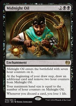Adult Midnight Cape Black (Magic: the Gathering - Midnight Oil (092/264) -)