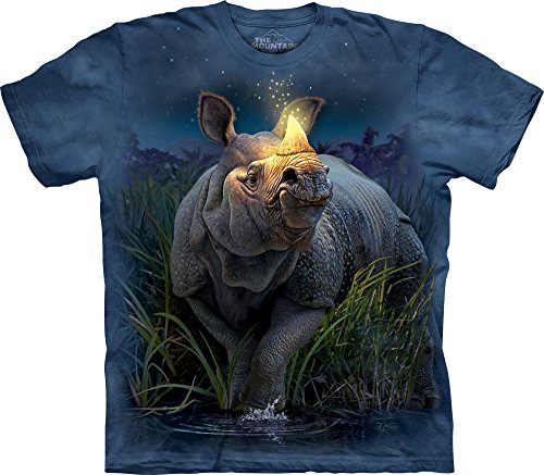 The Mountain Men's Rhinocerous T-Shirt, Blue, Small