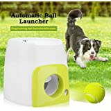 Auto Pet Dog Treat Tennis Ball Toy Fetch Thrower Throw Up Hyper Game Training - Interactive Fetch-N-Treat Dog Toy
