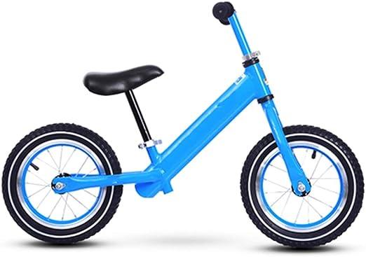 YUMEIGE Bicicletas sin Pedales Bicicletas sin Pedales Aleación de Aluminio, Altura Recomendada 31.4-51.1 Pulgadas, Bicicleta de Equilibrio para niños Rueda de radios (Competencia) (Color : Blue): Amazon.es: Jardín