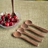 Wooden Spoon Set Of 5 In Natural Brown-Spoon Set , Wood Utensils , Dinning Tabler Accessories