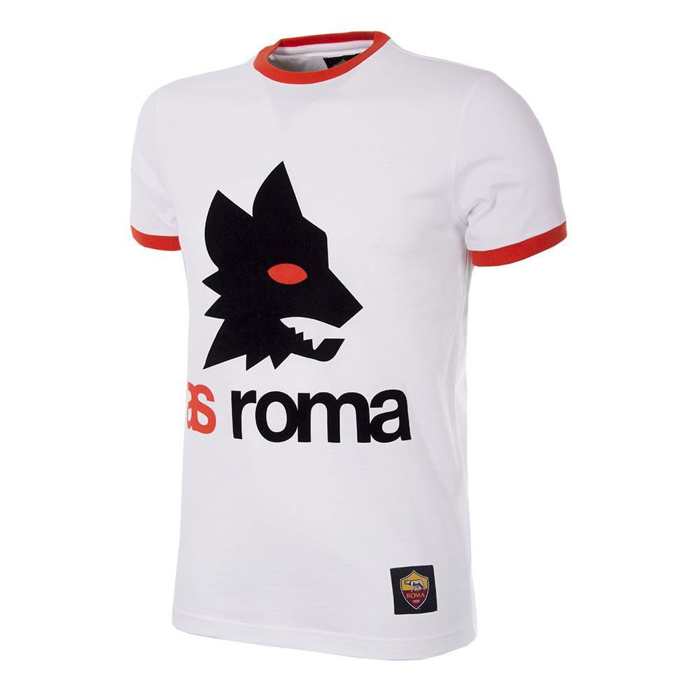Copa AS Rom Retro Logo T-Shirt - weiß