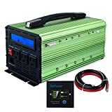 EDECOA 2000W Power Inverter Modified Sine Wave DC 12V to 110V AC with LCD Display and Remote