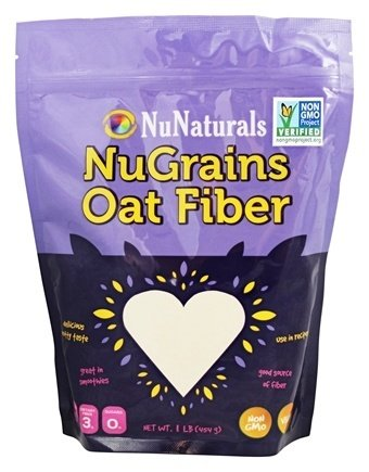 NuNaturals - NuGrains Oat Fiber - 1 lb.(pack of 2) (One Fiber Oats)