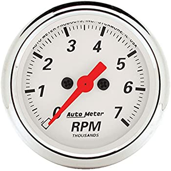 Auto Meter 1399 Arctic White Electric Tachometer