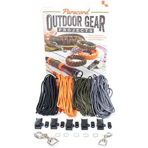 - Paracord Outdoor Gear DIY Craft Book and Crafting Kit - Create Simple Projects for The Outdoors - Survival Bracelet, Knots, Handle Wraps, and More