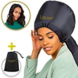 Bonnet Hood Hair Dryer Attachment - Soft Adjustable Hooded Bonnet for Hand Held Hair Dryer - Mask Cap for Drying Styling Curling Deep Conditioning-Soft