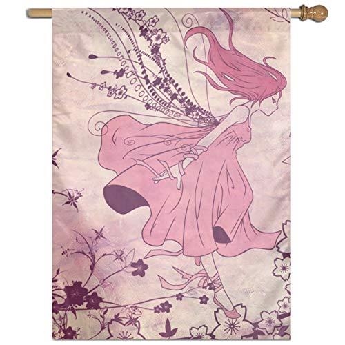 HETTM Flag What is Your Anime Hair Color Black Wrought Iron Yard Garden Flag Pole 27