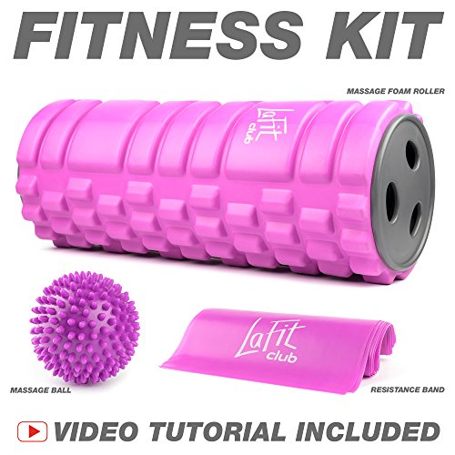 LAFIT CLUB Foam Roller for Physical Therapy & Exercise - Foam Roller Massager - Back Massager Roller - Muscle Roller Set - Foam Roller Kit - Foam Rollers for Muscles by LAFIT CLUB