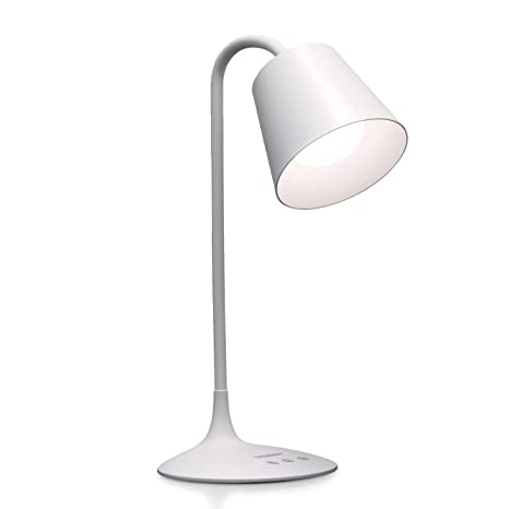 Tenergy Classic Rechargeable LED Desk Lamp With 3 Preset Light Colors,  40 Minute Auto