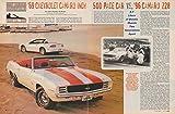 1969 CHEVROLET CAMARO INDY 500 PACE VAR vs: '96 CAMARO Z28 Color Article (MOTOR TREND) - USA - NICE !!