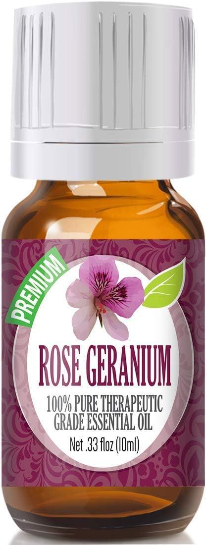 Rose Geranium Essential Oil - 100% Pure Therapeutic Grade Rose Geranium Oil - 10ml