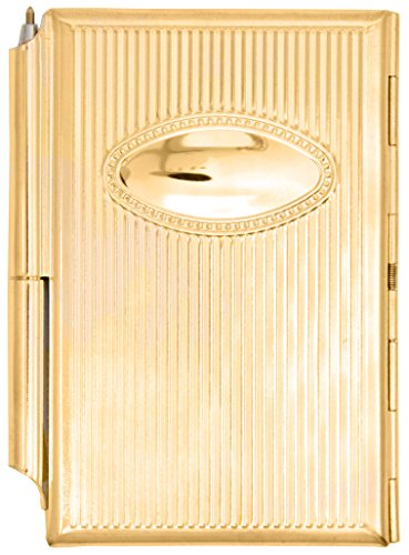 Compact Metallic Gold Scratch Note Memo Pad With Pen
