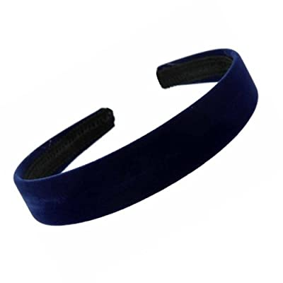 b6db9d135 Dark Navy Blue Velvet Feel Alice Hair Band Headband 2.5cm (1) Wide by